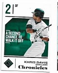 2018 Panini Chronicles Khris Davis card